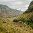 Stock Photo: Glencoe in overcast spring day.