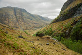 Glencoe in overcast spring day. — Stock Photo