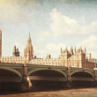 The Palace of Westminster, Elizabeth Tower and Westminster Bridge — Stock Photo #41305621
