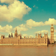 The Palace of Westminster, Elizabeth Tower and Westminster Bridge — Stock Photo #41306049