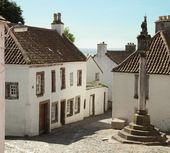 Culross Market Square. Scotland, UK — Stock Photo
