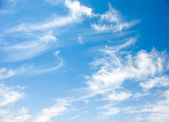 Blue sky and Cirrus clouds — Stock Photo