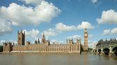 Het paleis van westminster, elizabeth toren en westminster bridge — Stockfoto