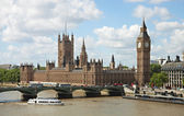 House of Parliament with Big Ban tower in London — Stock Photo