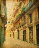 Empty alleyway in Barcelona, Spain. — Stock Photo