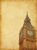 Big Ben - Upper portion of the tower — Stock Photo