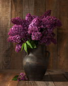 Bouquet of spring purple Lilac — Stock Photo