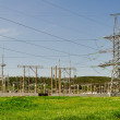Royalty-Free Stock Photo: The high-voltage substation