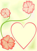 Heart Valentine — Stock Vector