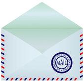 Busta di posta aperto. — Vettoriale Stock