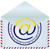 Envolvente de correo abierto. — Vector de stock
