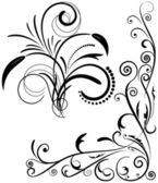 Vintage set kalligrafische elementen. — Stockvector