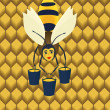 Abstract bee.  — Imagen vectorial