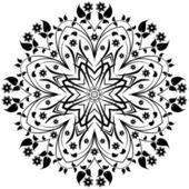 Cirkel floral ornament. — Stockvector