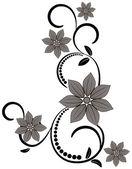 Ornament vintage floral. — Stock Vector