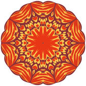円花飾り. — ストックベクタ