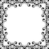 Frame ornament vintage floral design. — Stock Vector