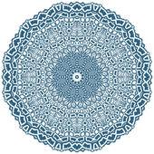 Circle floral ornament — Stock Vector