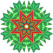 円花飾り — ストックベクタ