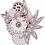 Paisley flowers mehndi — Stock Vector #33228803