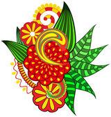 Ornate flower. — Stock Vector