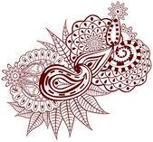Ornamentální květ. — Stock vektor