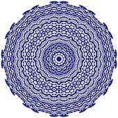 Circle floral ornament. — Stock Vector
