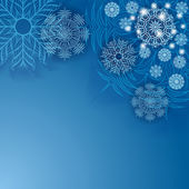 Copos de nieve. — Vector de stock