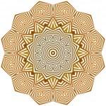 Circle ornament. — Stock Vector