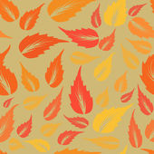 Modern design autumn leaves texture. — 图库矢量图片