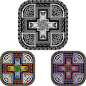 Cross and celtic an ornament — Vettoriale Stock