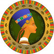 Royalty-Free Stock Vector Image: Tsarina of Egypt Nefertiti