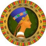 Tsarina of Egypt Nefertiti — Stock Vector
