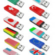 Stock Photo: Set flash USB isolated