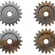 Gear the engine various degrees — Stock Photo