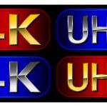 UltraHD labels — Stock Vector