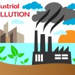 Stock Vector: Air pollution of factory