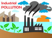 Air pollution of factory — Stock Vector