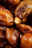 Closeup of whole dates — Stock Photo