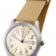 Beige wristwatch closeup — Stock Photo #42993191
