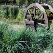Wooden Wheel in the Park — Stock Photo