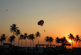 Parasailing in Goa — Stock Photo