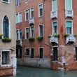 Intersection of Canals in Venice — Stock Photo