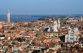 View of Venice from Bell Tower — Stock Photo