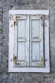 Window with Unpainted Shutters — Stock Photo