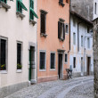 Medieval Street in Cividale del Friuli - Stock Photo