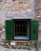 Window in the Town of Grado — Stock Photo