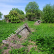 Old Broken Fence and Vegetation — Stock Photo