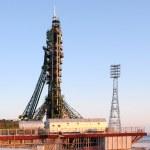 Soyuz Spacecraft on Launch Pad in Baikonur — Stock Photo #34218753