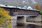 Covered Wooden Bridge — Stok fotoğraf